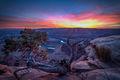 utah, ut, canyonlands national park, sunset, canyons, southwest, colorado plateau,  sun star, starburst, atmospherics, red rock, moab, sandstone, dead horse point, deadhorse, point, pt, colorado river