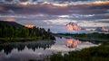 snake river, snake, river, mountains, landscape, tetons, grand tetons, sunrise, clouds, storm, jackson, trees, national park, water, spring, atmospherics, jackson lake, sunrise, moran