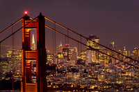 golden gate, fort, cronkite, fog, sunrise, san francisco, marin, trees, headlands, bridge, ca, california, water, ocean, pacific
