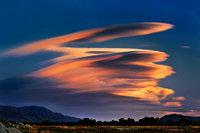 eastern sierra, sierra, lenticular clouds, clouds, bishop, sunset,  spring, ca, california,