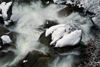 yosemite, water, cascade creek, winter, mountains, sierra, snow, waterfalls, ca, california