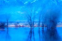 farmers pond, sierra, eastern, bishop, dawn, predawn, water, sunrise