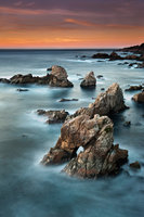 coast, coastal, water, pacific, big sur, sur, big, highway 1, hwy 1, ca, california,  sunset, twilight, ocean,  garrapata,  soberanes, beach, surf, waves, sea stacks, arch