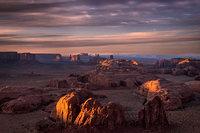 monument valley, southwest, AZ, UT, arizona, utah, indian land, mountains, desert, sunset, twilight, hunts, mesa