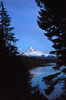 columbia river gorge, mt hood, lost lake, water, stars, twilight, northwest, pacific, or, oregon