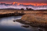 eastern sierra, sierra, owens river, fall, ca, california, trees, storm, winter, sunrise, bishop, mountains