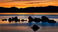 eastern sierra, sierra, clouds, sunset,  spring, ca, california, lake tahoe, north shore, boulders, rocks, bonsai rock, water, stars, moon, moonrise, sand harbor