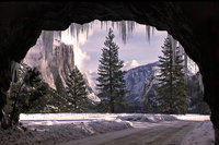 landscape, yosemite, tunnel view, bridalveil falls, winter, clearing storm, mountains, sierra, half dome, water, bridalveil falls, ca, california, waterfalls, cathedral rocks, half dome, sentinel dome