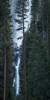 Yosemite, California, Ca, Sierra, valley, Yosemite national park, Yosemite Falls, trees, sunset, water, winter