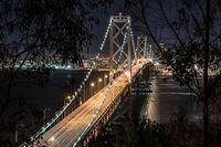 San francisco, Bay bridge, night, san francisco bay
