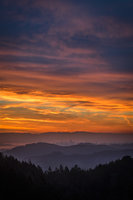 San Francisco Bay, San Francisco, California, CA, water, Mt Tamalpais, sunrise, clouds, bay area, dawn