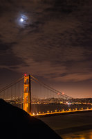 San Francisco Bay, San Francisco, California, CA, water, Mt Tamalpais, sunrise, clouds, bay area, dawn, moon, moonrise, golden gate, golden gate bridge