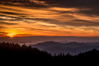 San Francisco Bay, San Francisco, California, CA, water, Mt Tamalpais, sunrise, clouds, bay area, dawn