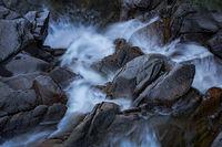 cascade, cascade falls, water falls, falls, ca, california, sierra, mountains, sunrise, water, granite