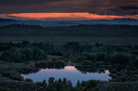 wind river mountains,ccc ponds,pinedale sunset,mountains,wy,wyoming, sunset, water, storm, clouds