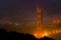 San Francisco Bay, San Francisco, California, CA, water, Mt Tamalpais, sunrise, clouds, bay area, dawn, moon, moonrise, golden gate, golden gate bridge, marin, headlands