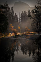 yosemite, national park, sierra, valley, fall, trees, merced, flora, mountains, leaves, ca, colors, dogwoods, merced river, merced, maples, reflections, el capitan, hal dome