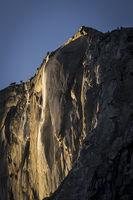 yosemite, sierra, horsetail falls, mountains, sunset, water, california, ca, winter, national park