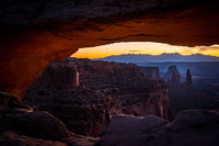 southwest, utah, ut, moab, canyonlands, national park, sunrise, mesa arch, red rock, sandstone, mountains, west, islands in the sky, colorado plateau, arch