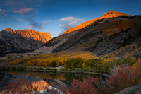 eastern sierra, sierra, aspens,  bishop creek, north lake,, fall, ca, california, trees, water, mountains, reflection, fall colors, bishop