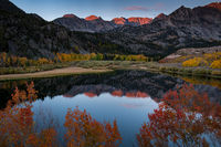 eastern sierra, sierra, aspens,  bishop creek, north lake, fall, ca, california, trees, water, mountains, reflection, fall colors, bishop