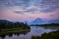 grand teton national park, tetons, snake river, snake, river, mountains, trees, water, color, aspens, sunset, moon, clouds, flora, moon, moonrise