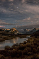 Green river, wy, wyoming, aspens, fall, colors, mountains, water, moonlight, stars, square top