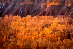 bryce national park, bryce hoodoos, sunset point, winter, southwest, sunset, AZ, UT, arizona, utah, indian land, mountains, desert, red rock, hoodoo, colorado plateau
