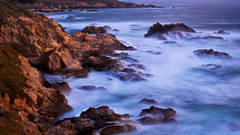 coast, coastal, water, pacific, big sur, sur, big, highway 1, hwy 1, ca, california,  sunset, twilight, ocean,  garrapata,  soberanes, beach, surf, waves, sea stacks, arch, beach