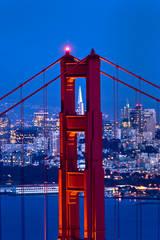 golden gate, fort, cronkite, fog, sunset, san francisco, marin, headlands, bridge, ca, california, water, ocean, pacific, bridge, city, transamerica, building