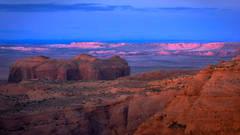 hunts mesa, hunts, mesa, desert, mountains, monument, valley, az, arizona, ut, utah, sunset, twilight