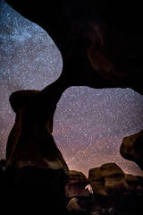 malete arch, arch, night, hoodoos, milky way, stars, night, devils garden, escalante, southwest, ut, utah, desert