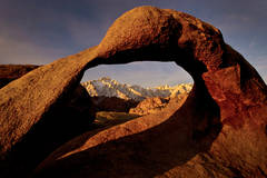 mt whitney arch, mobius arch, mountains, sierra, arch, mobius, ca, california, eastern, sunrise, alabama hills