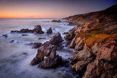 coast, coastal, water, pacific, big sur, sur, big, surf, waves, highway 1, hwy 1, ca, california,  sunset, twilight, arch, ocean,  garrapata,  soberness, beach, surf, waves, sea stacks, beach