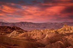 zabriskie, point, death, valley, ca, california, sunrise, desert, southwest, mountains