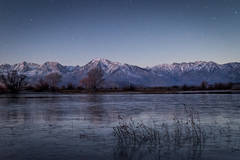 eastern sierra, mountains, clouds, sunset, bishop, ca, california, mountain light, winter, sierra, lenticular,  owens river valley, owens, river, stars