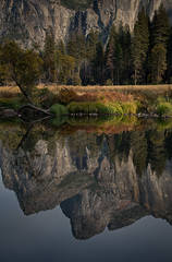 Yosemite, Sierra, mountains, yosemite valley, fall, merced river, merced, water, maples, fall color, fall, dogwoods,  wildlife, flora, fauna, valley view, bridalveil falls, reflection
