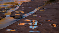 az, arizona, colorado plateau, red rock, red rock crossing, oak creek, cathedral rock, sunset, alpenglow, reflections, sedona,