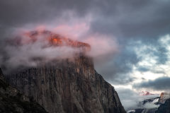 yosemite, national park, sierra, valley, clouds, mountains, leaves, ca, colors, tunnel view, el capitan, half dome, sentinel dome, sunset, winter, clearing storm