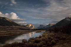 green river, mountains, Wyoming, wy, jackson, pinedale, Tetons, Grand Teton Park, landscape, Fall, trees, aspens, fall color,  wind river, wind river mountains, sunrise, moonlight