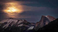 Half Dome Full Moonrise
