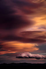 eastern sierra, mountains, clouds, sunset, bishop, ca, california, mountain light, winter, sierra, lenticular,  owens river valley, owens, river