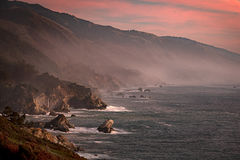 California, CA, water, beach, beaches, coast, coastline, rocks, sunrise, big sur, pfeifer, state, park, atmospherics, clouds, light, winter, waves, mc way, mcway, falls, central, clouds, predawn, dawn