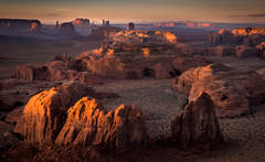 monument valley, southwest, sunset, AZ, UT, arizona, utah, indian land, mountains, desert, hunts mesa