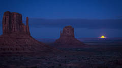monument valley, arizona, az, utah, ut, mittens, monuments, southwest, indian country, navajo nation, sunset, twilight, moon, moonrise