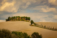 europe, italy, tuscany, pienza, siena, villa, wine, grapes, fields, sunset, clouds, valley, val d'orchia, sunrise, cypress, trees, flora