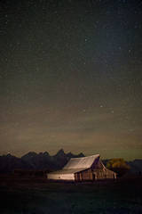 mountains, Wyoming, wy, Tetons, Grand Teton Park, landscape, Fall, trees, aspens, fall color, jackson, molten barn, stars, night