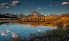 mountains, Wyoming, wy, jackson, Tetons, Grand Teton Park, landscape, Fall, trees, aspens, fall color, snake river, oxbow bend, dawn, sunrise, water