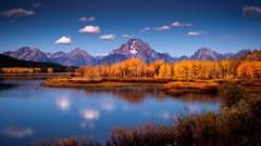 mountains, Wyoming, wy, Tetons, Grand Teton Park, landscape, Fall, trees, aspens, fall color, jackson, moulton barn, stars, night, big dipper, oxbow bend, snake river, snake