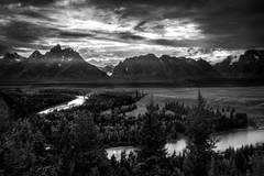 snake river, snake, river, mountains, landscape, tetons, grand tetons, sunset, clouds, storm, jackson, trees, national park, water